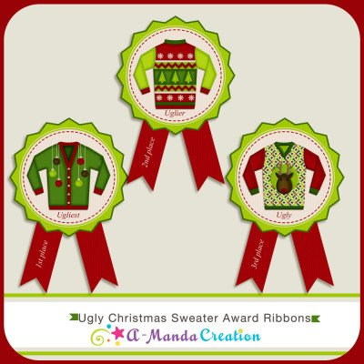 A Manda Creation Ugly Christmas Sweater Party Printables